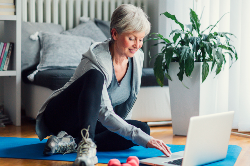 older-woman-working-out-at-home