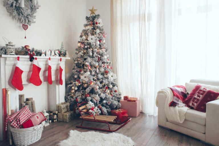 Albero di Natale in salotto