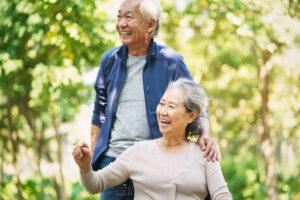 Coppia di anziani giapponesi