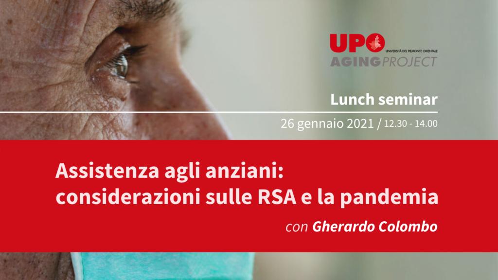 Locandfina webinar UPO su assistenza anziani in pandemia
