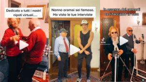 Screenshot dei video social di Nonno Severino